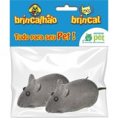 KIT CAT RATINHO VINIL C/ 2