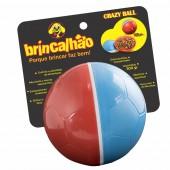 BRINQUEDO BRINCALHAO CRAZY BALL AZUL E VERMELHO